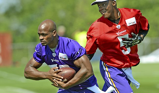 Adrian Peterson camp 2014