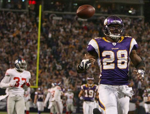 Adrian Peterson Scores A TD Vs The Giants