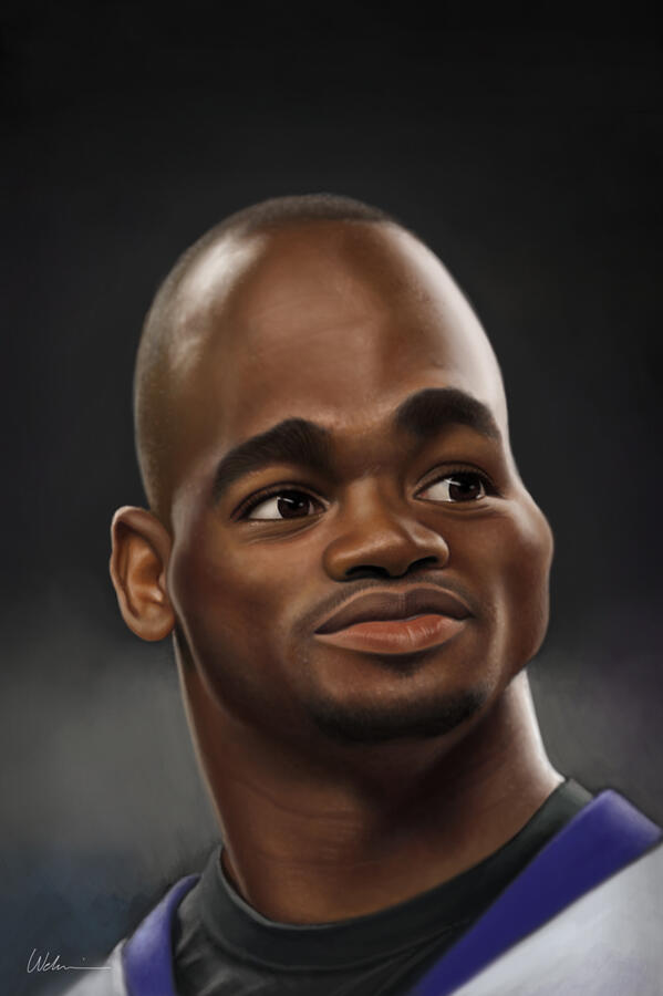 Adrian Peterson Caricature