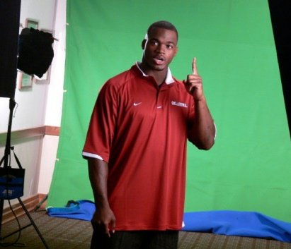 adrian peterson oklahoma video shoot