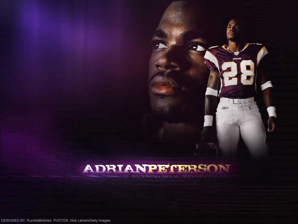 Adrian Peterson Vikings Wallpaper added June 19th